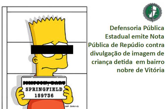 Nota Pública de Repúdio da DPES contra violação dos Direitos da Criança e Adolescente