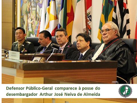 Defensor Público-Geral comparece à posse do desembargador Arthur José Neiva de Almeida