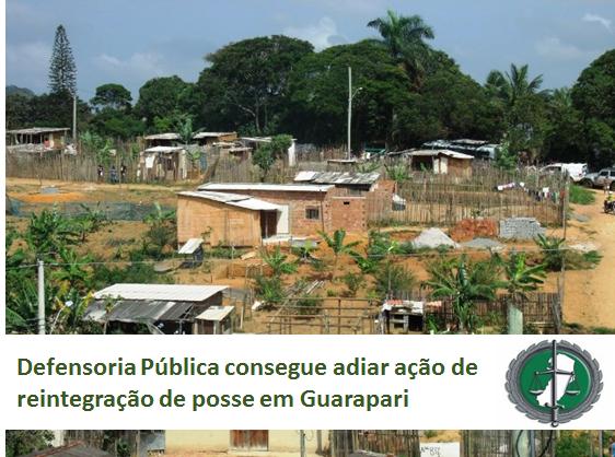Defensoria Pública consegue adiar ação de reintegração de posse em Guarapari