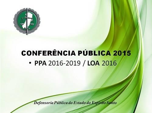 Conferência Pública discute PPA 2016-2019 da DPES