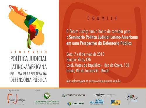 Acontece nessa semana o Seminário de Política Judicial Latino-Americana