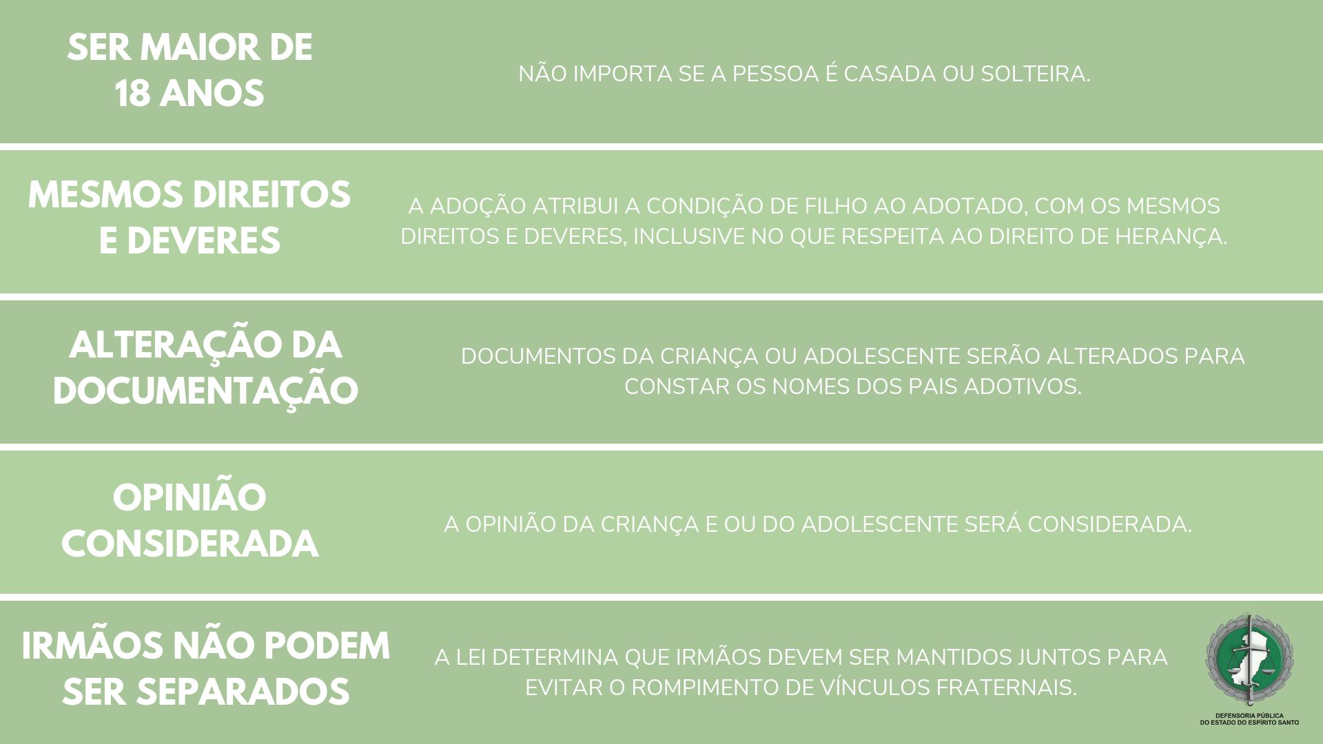 """Fonte: Cartilha """"Adoção"""", elaborada pela Defensoria Pública do Estado de São Paulo."""